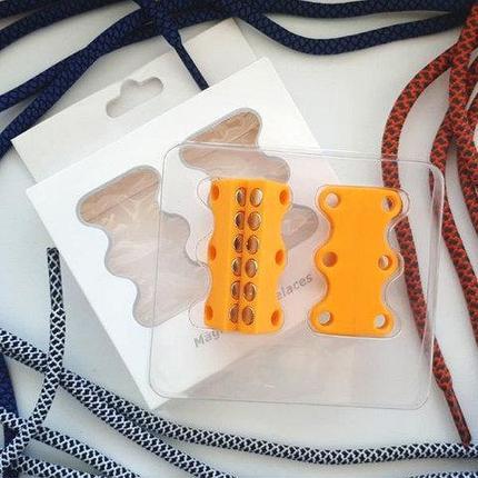 Умные магниты для шнурков Magnetic Shoelaces (Оранжевый / Для взрослых), фото 2