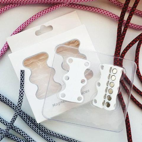 Умные магниты для шнурков Magnetic Shoelaces (Белый / Для взрослых)