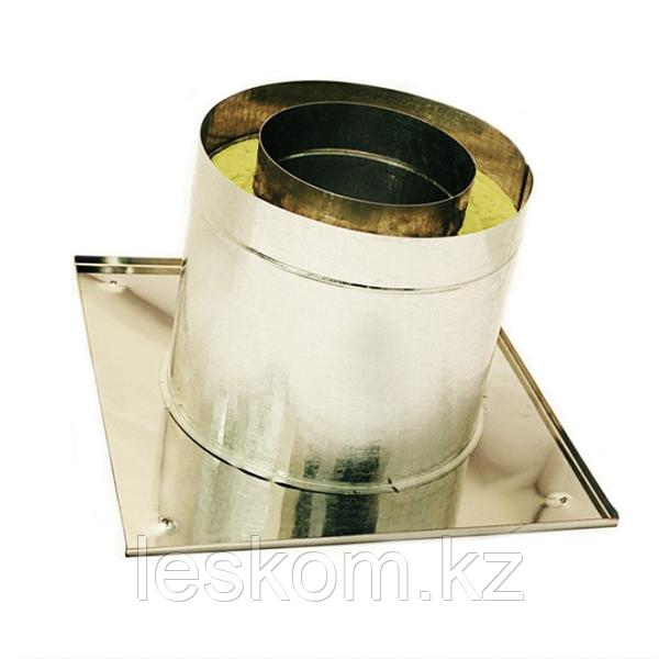 Потолочно-проходной узел, диаметр дымохода 115мм, теплый