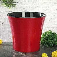 Кашпо со вставкой «Арте», 3,5 л, цвет красно-чёрный