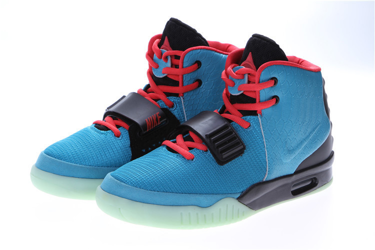 Кроссовки Nike Air Yeezy 2 (Kanye West) синие с черным