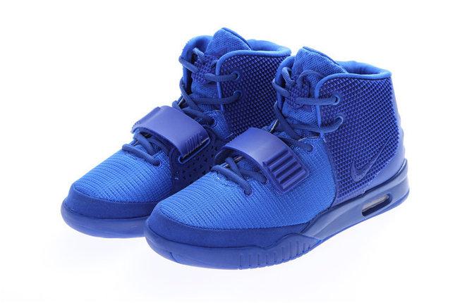 Кроссовки Nike Air Yeezy 2 (Kanye West) синие, фото 2