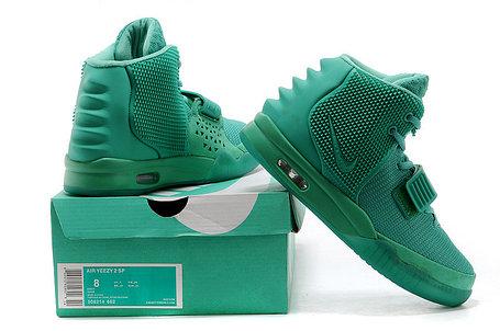 Кроссовки Nike Air Yeezy 2 (Kanye West) зеленые, фото 2