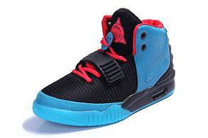 Кроссовки Nike Air Yeezy 2 (Kanye West) синие с черным, фото 2