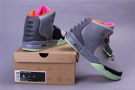 Кроссовки Nike Air Yeezy 2 (Kanye West) серые, фото 2
