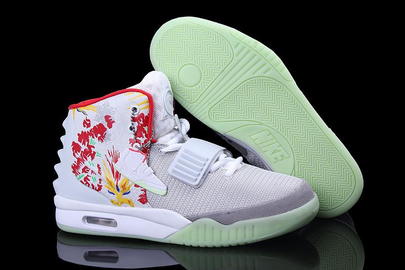 Nike Air Yeezy 2 (Kanye West) рисунок белые