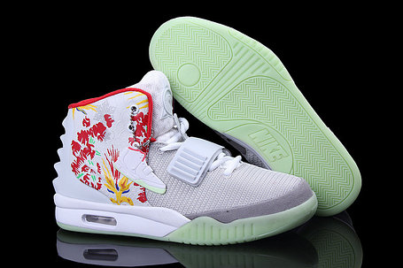 Nike Air Yeezy 2 (Kanye West) рисунок белые, фото 2