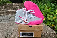 Nike Air Yeezy 2 (Kanye West) кроссовки серо-розовые женские