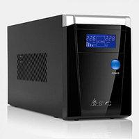UPS, SVC, V-1200-F-LCD, Smart, USB, Диапазон работы AVR: 165-275В, Бат.: 12В/7.5 Ач*2шт., 3 вых.: Shuko CEE7., Защита тел. линии, Чёрный