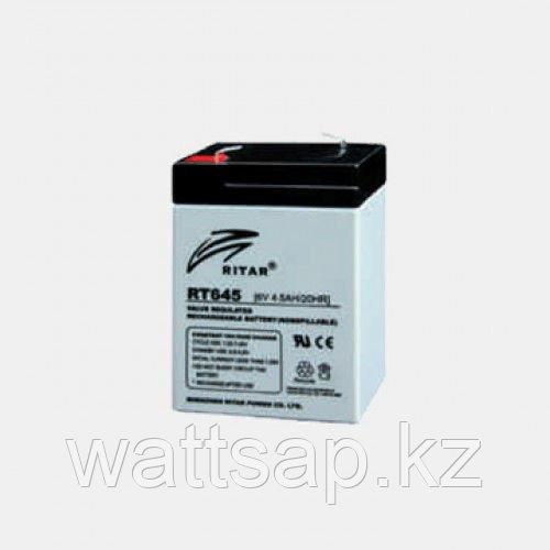 Аккумулятор   6V   4.5AH Ritar RT645, 70x47x101