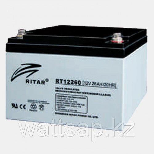 Аккумулятор 12В 26А·ч Ritar RT12260, 166x175x125