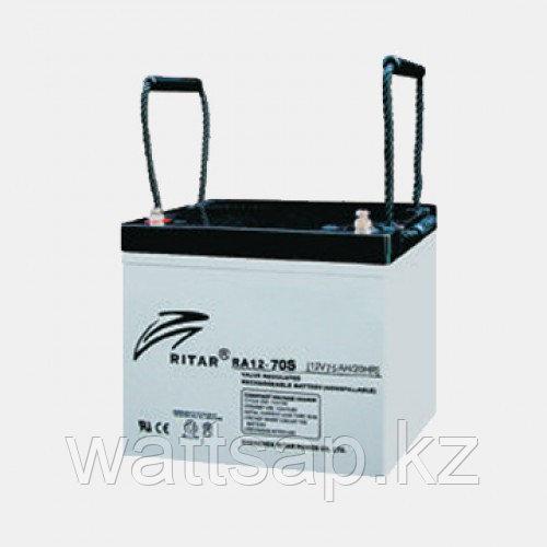 Аккумулятор 12V  70AH Ritar RA12-70S, 260x169x210