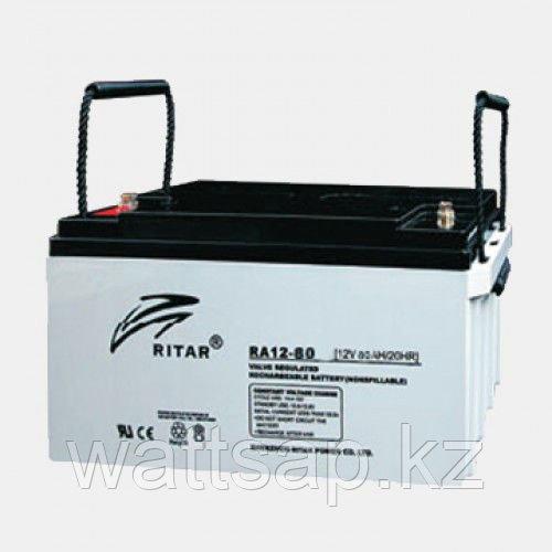 Аккумулятор 12В 80А·ч Ritar RA12-80, 350x167x179