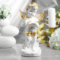 Статуэтка 'Ангел с книгой' белый, 32 см