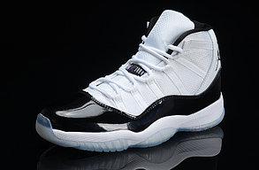 Nike Air Jordan 11 Generation баскетбольные кроссовки белые с черным, фото 2