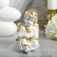 Статуэтка 'Ангел с книгой' 18 см, белая
