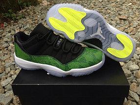Nike Air Jordan 11 Generation баскетбольные кроссовки черно-зеленые
