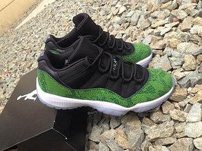 Nike Air Jordan 11 Generation баскетбольные кроссовки черно-зеленые, фото 2