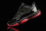 Nike Air Jordan 11 Low баскетбольные кроссовки черно-красные