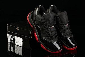 Nike Air Jordan 11 Low баскетбольные кроссовки черно-красные, фото 2