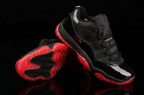 Nike Air Jordan 11 Low баскетбольные кроссовки черно-красные, фото 3