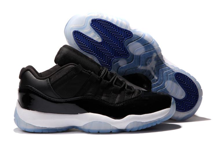 Nike Air Jordan 11 low Concord баскетбольные кроссовки черные