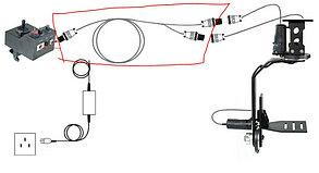 Кабелем питание с батарейныйм блоком  для Панорамных головок от PROIAM, фото 3