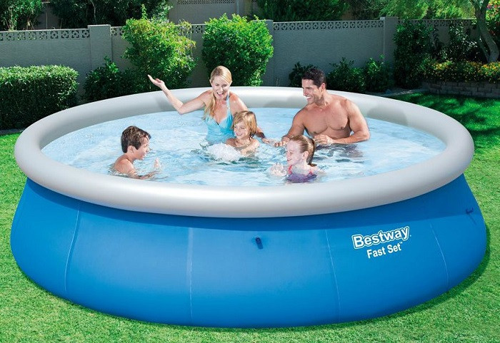 Надувной бассейн круглый 305x76 см, Bestway 57266