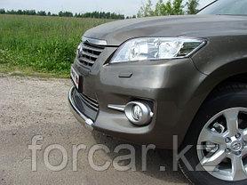 ОБВЕС защитно-декоративный из нержавеющей стали TOYOTA RAV4 2010-2012, фото 3