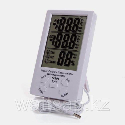 Электронный  термометр, гигрометр, часы MAX-MIN TA298