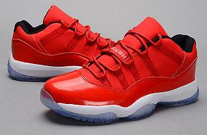 Nike Air Jordan 11 low Concord баскетбольные кроссовки красные, фото 2