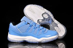 Nike Air Jordan 11 low Concord баскетбольные кроссовки голубые, фото 2