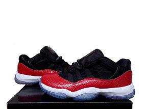 Nike Air Jordan 11 low Concord баскетбольные кроссовки черно-красные