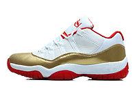 Nike Air Jordan 11 low Concord баскетбольные кроссовки белый с золотом