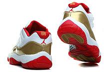 Nike Air Jordan 11 low Concord баскетбольные кроссовки белый с золотом, фото 2
