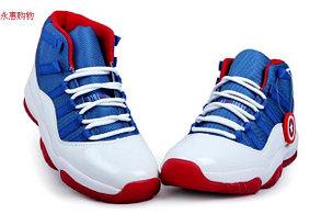Nike Air Jordan 11 Kaptain America баскетбольные кроссовки , фото 2