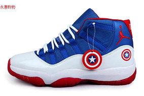 Nike Air Jordan 11 Kaptain America баскетбольные кроссовки