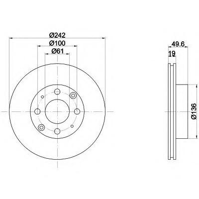 Тормозные диски  Honda Prelude (86-92,передние, Optimal)