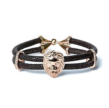 Браслет Lion из кожи морского ската