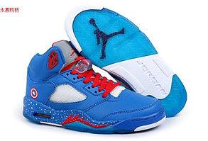 Баскетбольные кроссовки Nike Air Jordan 5 Kaptain America , фото 2