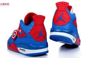 Баскетбольные кроссовки Nike Air Jordan 4 Kaptain America , фото 3