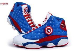 Баскетбольные кроссовки Nike Air Jordan 13 Kaptain America , фото 2