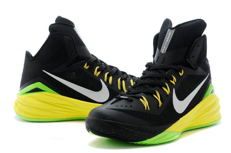 Баскетбольные кроссовки Nike Lunar Hyperdunk 14 ( XIV ) черно-желтые