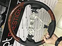 Руль на Camry V55 дерево с черной кожой