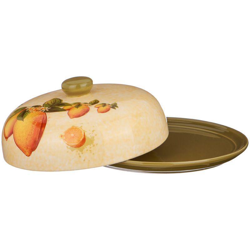 Блюдо для блинов Agness «Лимоны» (23х10 см)