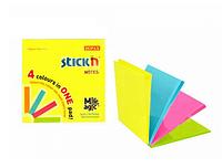 Клейкие листики STICK`N Magic 76 х 76 мм, 4 цвета, 100 листов