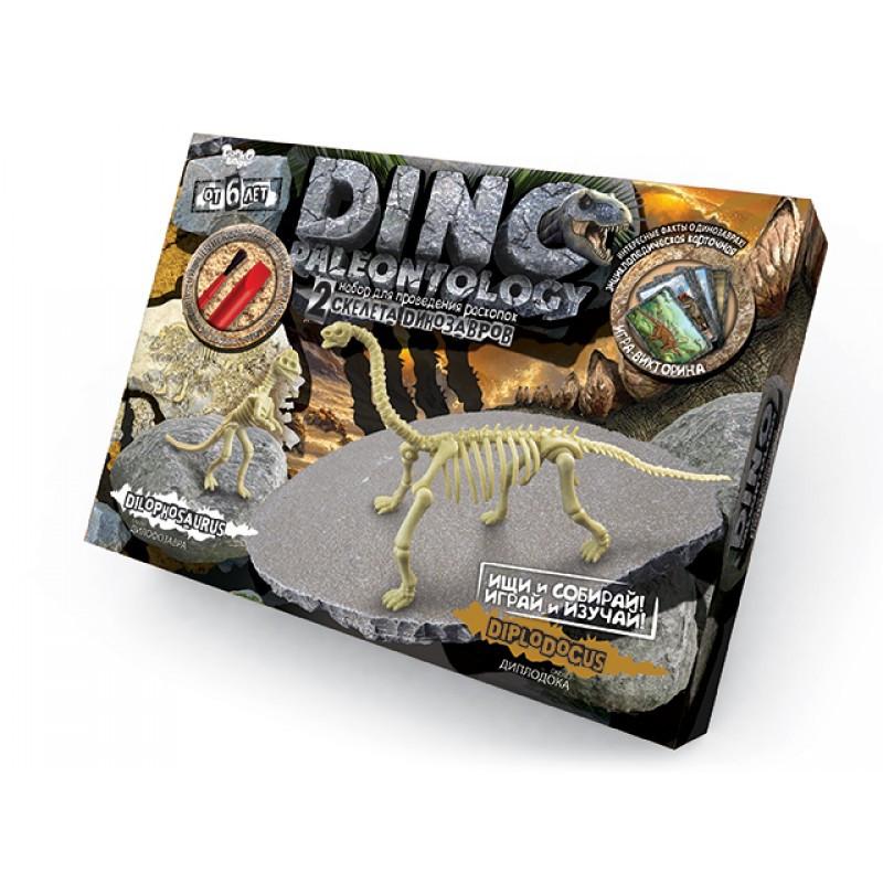 """Набор для проведения раскопок """"Dino Paleontology: Скелеты Диплодока и Дифолозавра"""""""