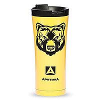 Кружка-термос ARCTICA (0,5л)(8ч)(металл)(желтый)-медведь R 83794