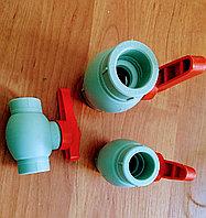Пластиковый Шаровый Кран (с латунным шариком) 20мм Пр.Турция, фото 1