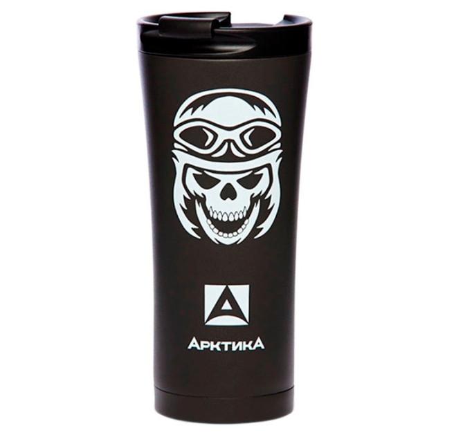 Кружка-термос ARCTICA (0,5л)(8ч)(металл)(черный)-череп R 83795